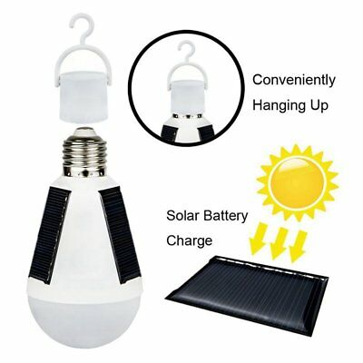 7W LED Solar Powered Hanging Light Bulb Emergency Lamp  for Hiking Camping Tent