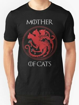 Mother Of Cats hanes Tagless Got BLACK T-Shirt Game Of Thrones dragons khaleesi