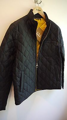 Barbour International Men's Axle Quilted Jacket, New With Tags, Medium, Black