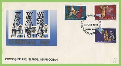 Cocos (Keeling) Islands 1982 Christmas set on First Day Cover
