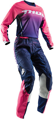 Thor MX Women's Lady's Jersey & Pant Combo Pulse Dashe Navy Pink Dirt Bike ATV