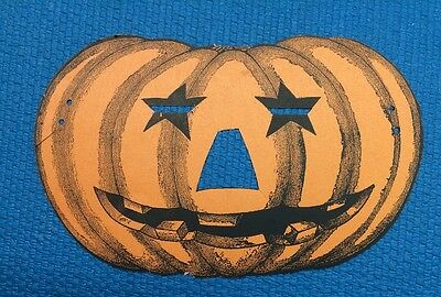 Vintage Halloween Pumpkin Die Cut Advertising Paper Mask TIP TOP BREAD