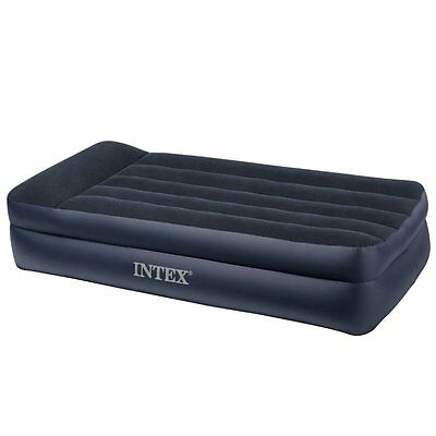 Intex Pillow Rest Raised Inflatable Airbed With Built-In Electric Pump - Twin