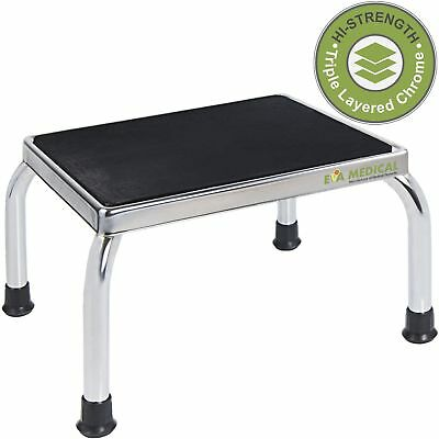 Eva Medical Chrome Frame Foot Step Stool with Anti-Slip Rubber Platform for t...