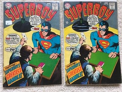 2 Copies of Superboy #148 (1968) Polar Boy Neal Adams Cover White Pages VG+/FN