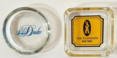 2 vintage collectable hotel ashtrays Louis Drake The Stanhope Hotels