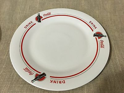 Vintage Coca-Cola Set Of 2 Dinner Plates By Gibson