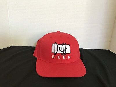 Duff Beer The Simpsons Red Adjustable Snapback Hat