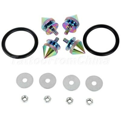NEO Chrome JDM Spike Aluminum Quick Release Fasteners Kit Fit For Bumper & Trun