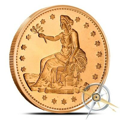 1 oz Copper Round - Trade Dollar