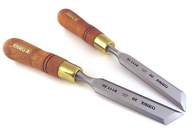 "Narex Right  Left 20 mm 13/16"" Skew Paring Chisels 811120/811170"