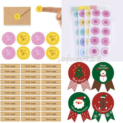 10-120x Variety Sealing Thank You Stickers Paper Envelope DIY Craft Label Hot