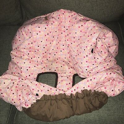 Custom Sewn Boutique Pink Brown Shopping Cart High Chair Cover