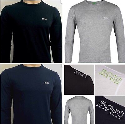 Hugo Boss  Long Sleeve Crew Neck T Shirt Five Colours And Sizes Small & Big Logo