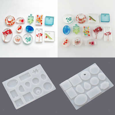 Silicone Mould Mold DIY Resin Necklace jewelry Pendant Making Crafts Tools