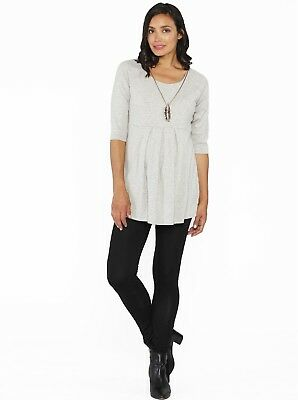 Maternity Casual Outfits - Grey Little Cotton Top & Legging Set