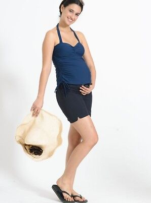 Maternity Board Short in Dark Navy