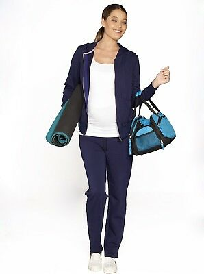 Maternity Cotton Track Suit Outfit Set in Navy