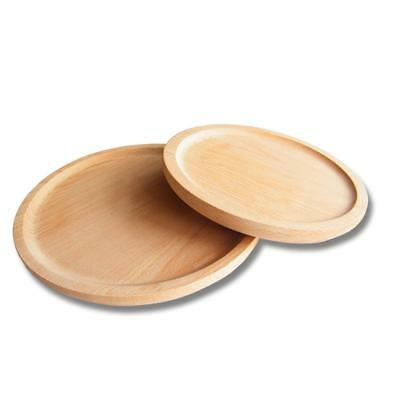Stylish Wooden Plate Serving Tray for Fruit Snacks Desserts Or Coffee Mat