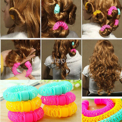 8pcs Hot Magic Forklift Fast Hair Styling Roller Curler Hair Jewelry DIY US
