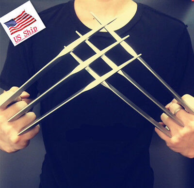 US! 2 Pcs/1 pair X-men Wolverine Claws Logan Paws cosplay props ABS Plastic