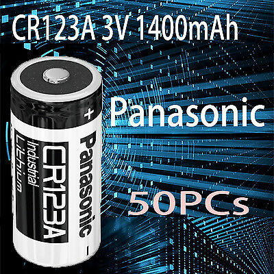 50x Panasonic 3V CR123a CR17345 Photo camera Lithium Battery CR123 DL123A EL123A