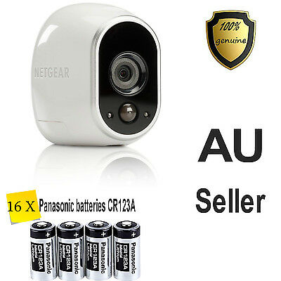 16 Panasonic CR123A CR123 Battery Netgear Arlo Security Camera VMS3330 3430 3530