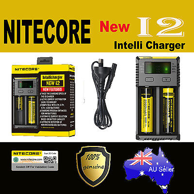 Nitecore NEW I2 Smart Universal Battery charger IMR Li-Ion LiFePO4 NiMH-Cd 18650