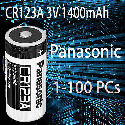 1-100 Panasonic 3V CR123a CR17345 Lithium Battery DL123A EL123A for Arlo Camera