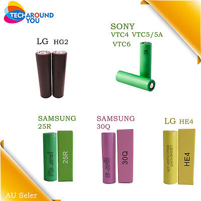 Genuine Sony Samsung LG 20A 30A 18650 Rechargeable Vape Vaping Lithium Battery