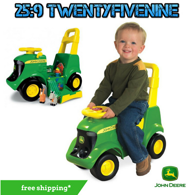 John Deere Sit N Scoot Activity Push Tractor With Sounds & Farm Animals