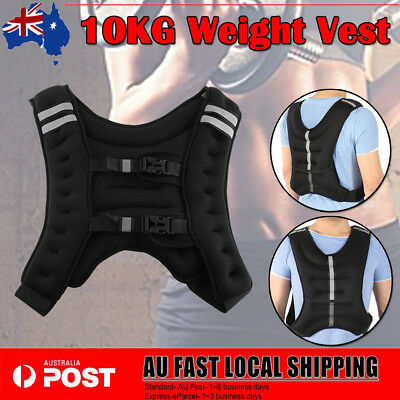 10kg Weighted Vest Weight Adjustable MMA Training Fitness Gym Running Outsports