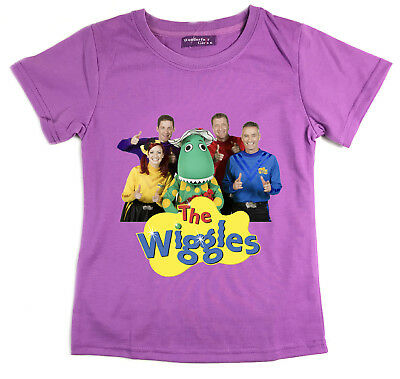 Girls Children Kids Purple The Wiggles Summer Top T-Shirt Style-1