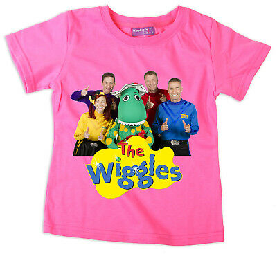 Girls Children Kids Pink The Wiggles Summer Top T-Shirt Style-1