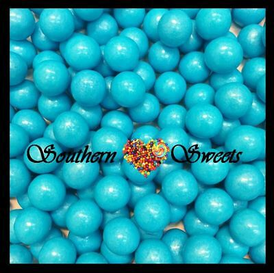 Shimmer Blue Sixlets Pearly Candy Balls 750G Blue Lollies Gluten Free