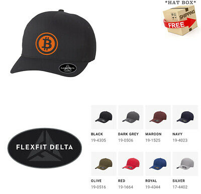 BITCOIN CURRENCY P2P Flex Fit DELTA  HAT  *FREE SHIPPING in BOX*