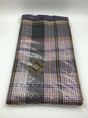 Indonesian Men's Sarong Brown, Purple Traditional Indonesia Wrap