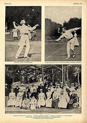 Internationales Tennistunier in Heiligendamm Graf Voß Großherzog Friedrich..1899