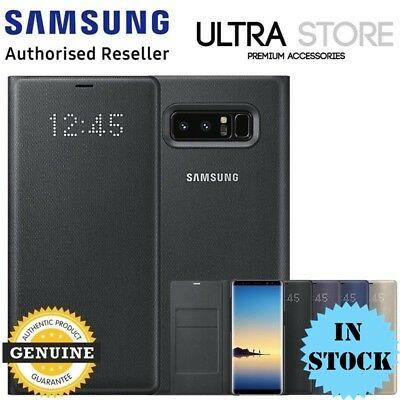GENUINE Original Samsung Galaxy Note 8 LED View Cover Wallet Card Pocket Case