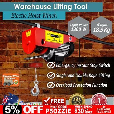New 240 Industrial Garage Electric Hoist Winch Rope Lifting Tool Workshop Remote