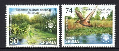Serbia 2017 Nature Protection Set 2 MNH