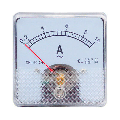 1PC Class 2.5 Analog Panel AMP Current Meter AC 0-10A Ammeter DH-60 60*60
