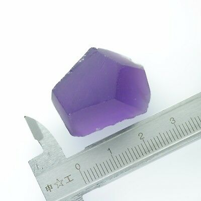 11gr Hydrothermal Amethyst (Quartz) Lab Created Faceting Rough Stones