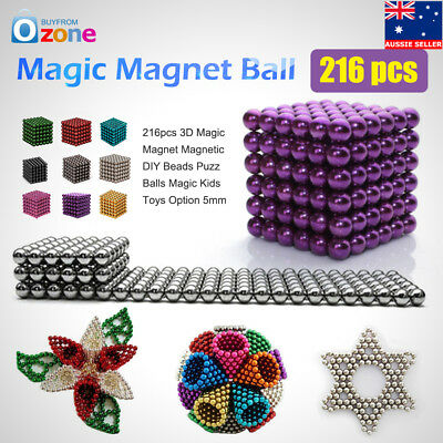 5mm 216pcs Magic Magnet Ball DIY magic Beads Sphere 3D Puzz Magnetic Kids Toys