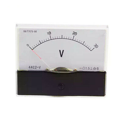1PC DC 30V Analog Panel Volt Voltage Meter Voltmeter Gauge 44C2