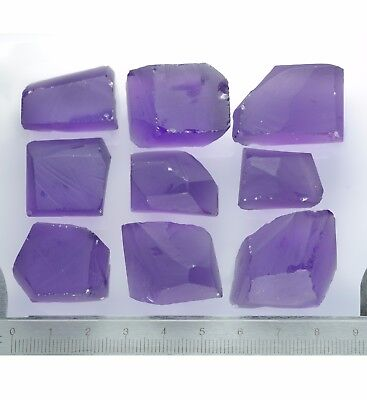 107gr Hydrothermal Amethyst (Quartz) Lab Created Faceting Rough Stone