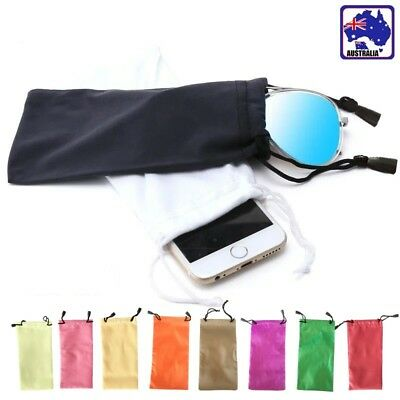 10pcs Soft Sunglasses Eyeglass Pouch Reading Glasses Case Bag Candy JGBAG18