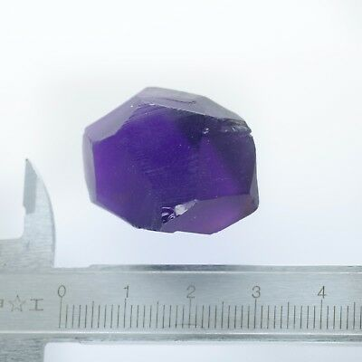 13gr Hydrothermal Amethyst (Quartz) Lab Created Faceting Rough Stone