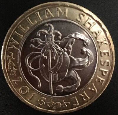 SHAKESPEARE Comedy £2.00 Coin JESTER Comedies 2016 Normal Circulation Coin