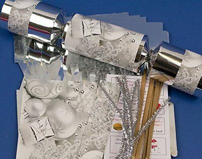 8 jumbo silver foil christmas make fill your own party crackers 8 jumbo silver foil christmas make fill your own party crackers craft kit solutioingenieria Gallery